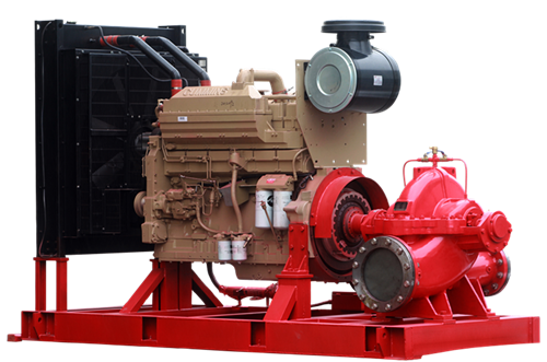 Horizontal split-case fire pump