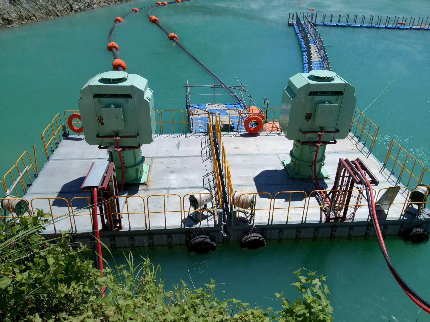 Pontoon Platform for Gold mine In Indonesia Manado